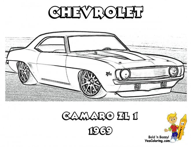 Coloriage et dessins gratuits Camaro ZL1 à imprimer