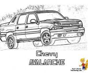 Coloriage et dessins gratuit Camionnette 27 à imprimer