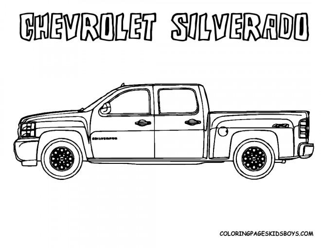 Coloriage et dessins gratuits Chevrolet 17 à imprimer