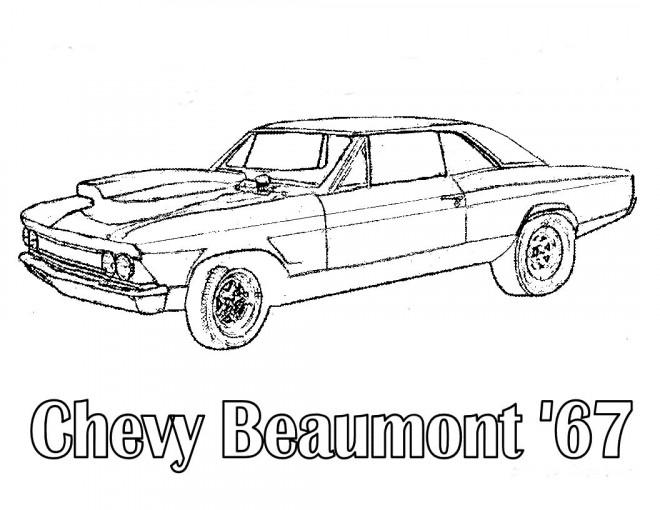 Coloriage et dessins gratuits Chevrolet 27 à imprimer