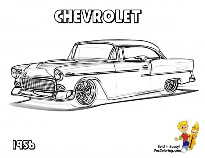 Coloriage et dessins gratuits Chevrolet 34 à imprimer