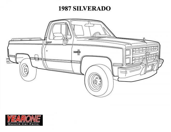 Coloriage et dessins gratuits Chevrolet 43 à imprimer
