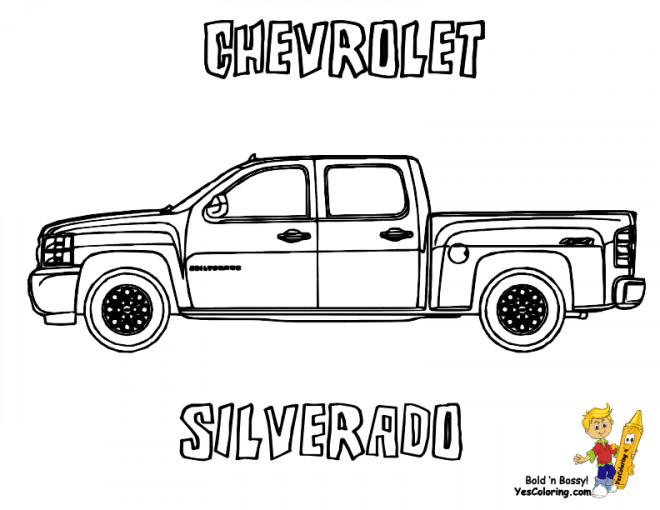 Coloriage et dessins gratuits Chevrolet 50 à imprimer