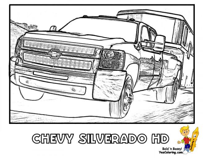 Coloriage et dessins gratuits Chevrolet 51 à imprimer