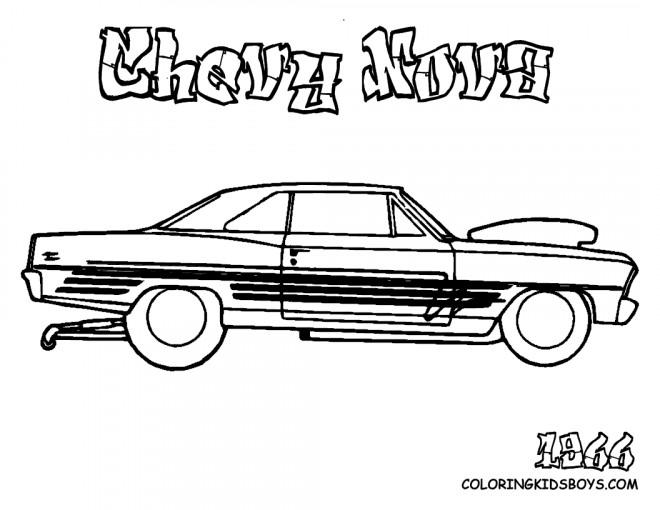 Coloriage et dessins gratuits Chevrolet 7 à imprimer