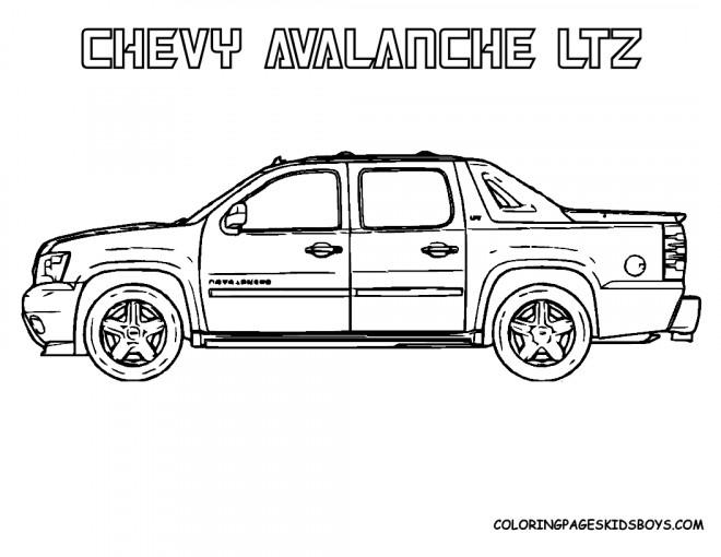 Coloriage et dessins gratuits Chevrolet 8 à imprimer