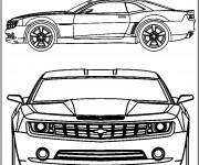 Coloriage et dessins gratuit Chevrolet Camaro modèle extraordinaire à imprimer