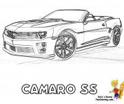 Coloriage et dessins gratuit Chevrolet Camaro SS à imprimer