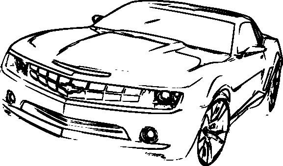 Coloriage et dessins gratuits Chevrolet Camaro sur ordinateur à imprimer