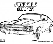 Coloriage Chevrolet Copo 427