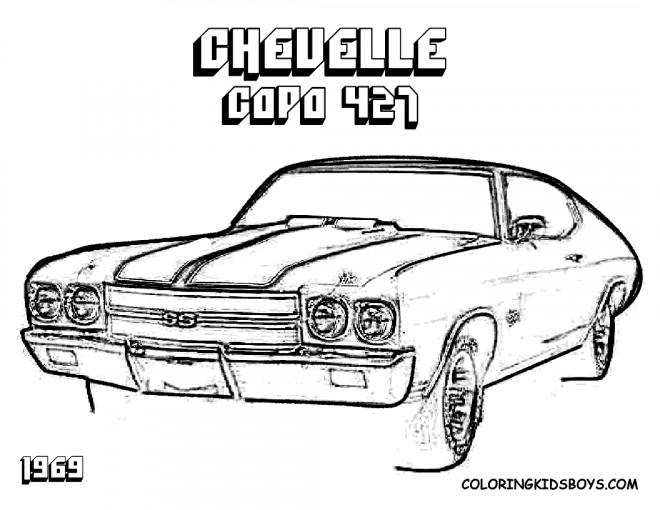 Coloriage et dessins gratuits Chevrolet Copo 427 à imprimer