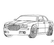 Coloriage et dessins gratuit Auto Chrysler 300c à imprimer