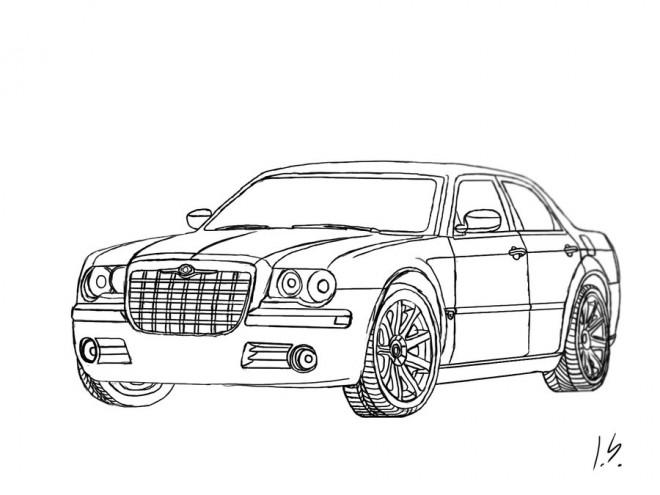 Coloriage et dessins gratuits Auto Chrysler 300c à imprimer