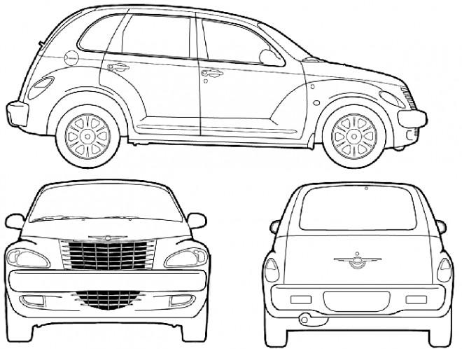 Coloriage et dessins gratuits Automobile Chrysler à imprimer