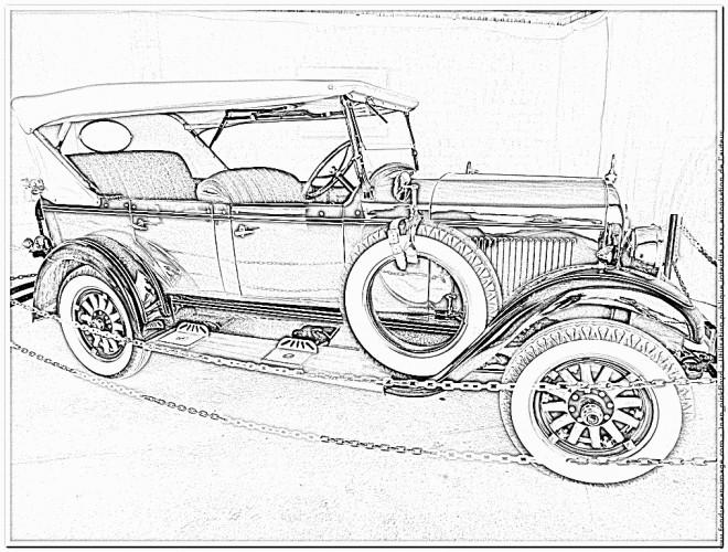 Coloriage et dessins gratuits Chrysler ancien modèle à imprimer