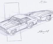 Coloriage et dessins gratuit Chrysler au crayon à imprimer