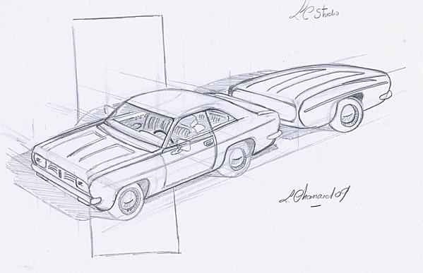 Coloriage et dessins gratuits Chrysler au crayon à imprimer