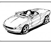 Coloriage Chrysler cabriolet