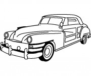 Coloriage et dessins gratuit Chrysler classique à imprimer