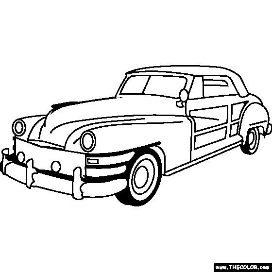 Coloriage et dessins gratuits Chrysler classique à imprimer