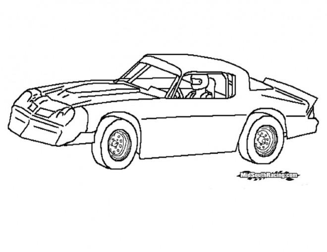 Coloriage et dessins gratuits Chrysler de course à imprimer