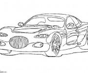 Coloriage Chrysler La voiture de Luxe