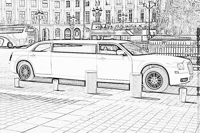 Coloriage et dessins gratuits Chrysler Limousine à imprimer