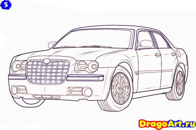Coloriage et dessins gratuits Chrysler stylisé à imprimer