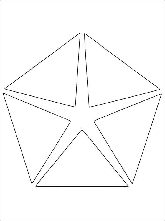 Coloriage et dessins gratuits Logo Chrysler à imprimer