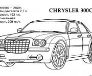 Coloriage Modèle de voiture Chrysler 300C
