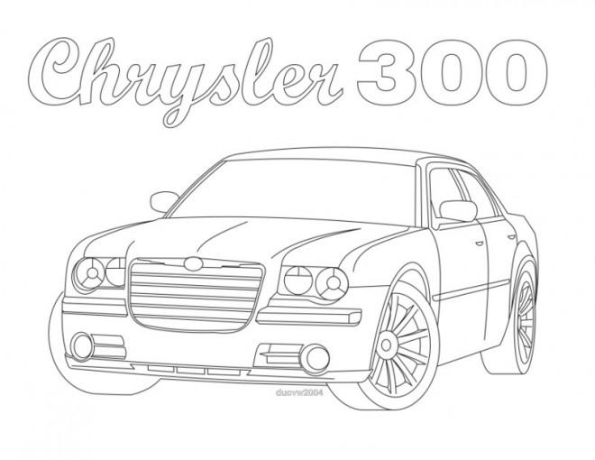 Coloriage et dessins gratuits Voiture Chrysler à colorier à imprimer