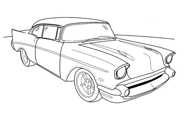 Coloriage et dessins gratuits Voiture Chrysler en ligne à imprimer