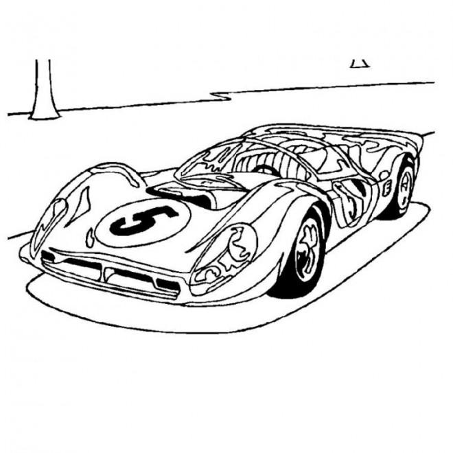 Coloriage et dessins gratuits Ferrari de course F1 à imprimer