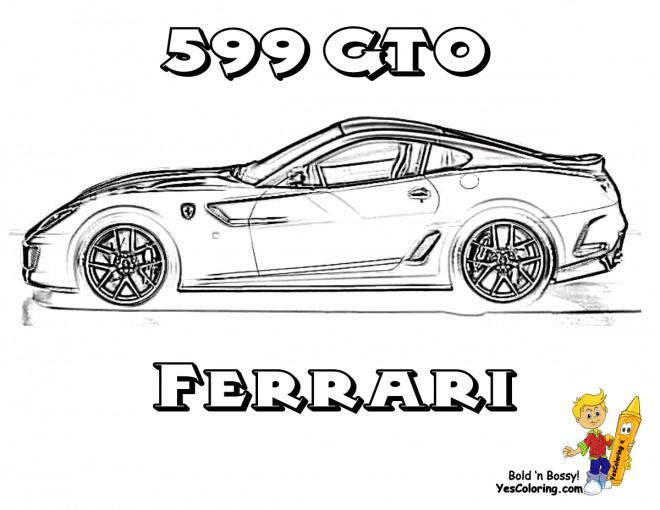 Coloriage et dessins gratuits Automobile Ferrari 599 GTO à imprimer