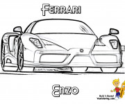 Coloriage Automobile Ferrari Enzo