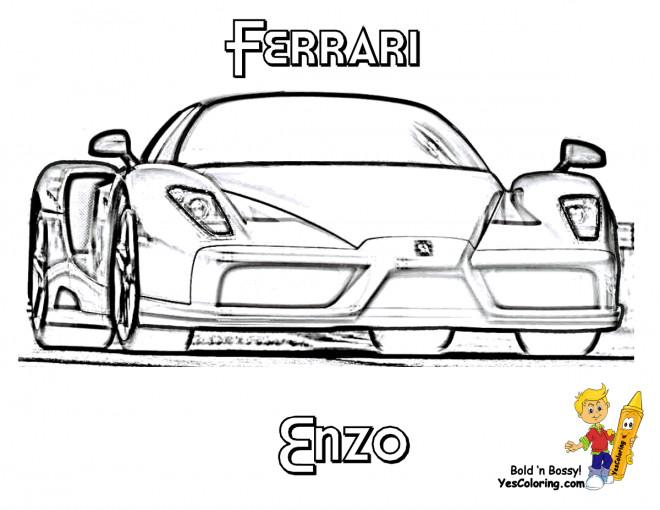 Coloriage et dessins gratuits Automobile Ferrari Enzo à imprimer