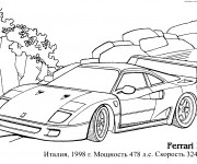 Coloriage et dessins gratuit Automobile Ferrari F-40 à imprimer