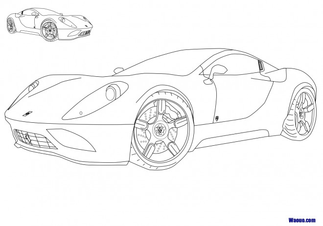 Coloriage et dessins gratuits Automobile Ferrari maternelle à imprimer