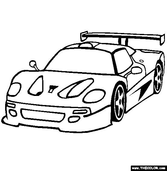 Coloriage et dessins gratuits Automobile Ferrari modèle F40 à imprimer