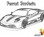Coloriage Automobile Ferrari Scuderia