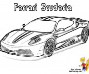 Coloriage et dessins gratuit Automobile Ferrari Scuderia à imprimer