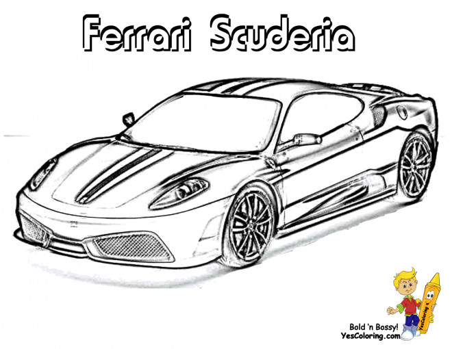 Coloriage et dessins gratuits Automobile Ferrari Scuderia à imprimer