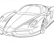 Coloriage Ferrari 10