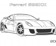 Coloriage Ferrari 17