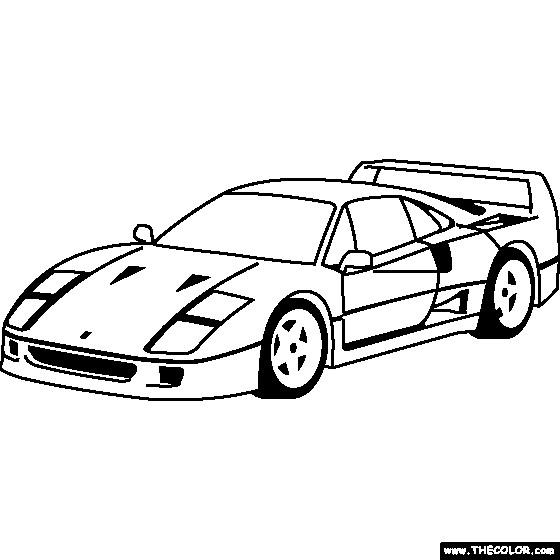 Coloriage et dessins gratuits Ferrari 250 GTO à imprimer