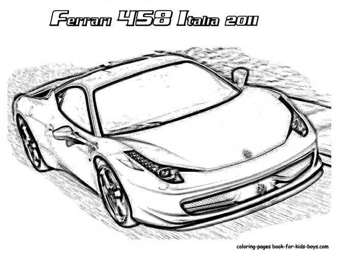 Coloriage et dessins gratuits Ferrari 458 2011 à imprimer