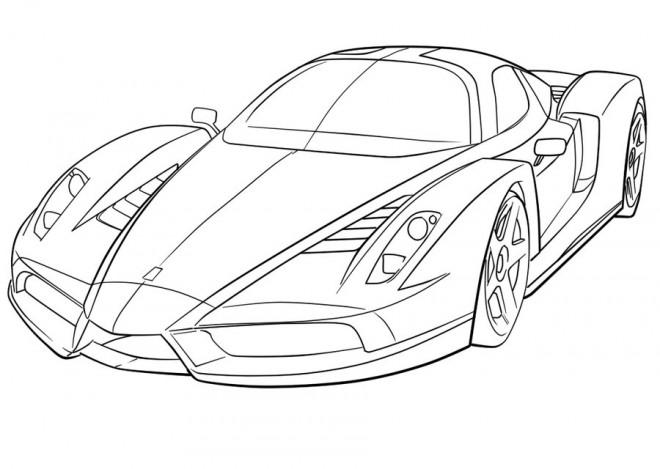 Coloriage et dessins gratuits Ferrari 458 à imprimer