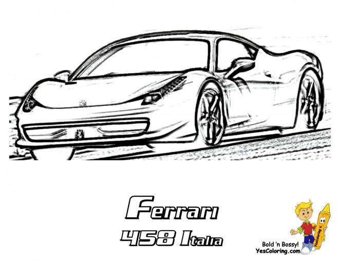Coloriage et dessins gratuits Ferrari 458 Italie à imprimer