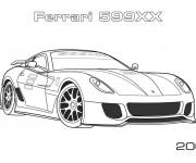 Coloriage et dessins gratuit Ferrari 599XX à imprimer