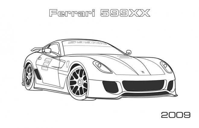 Coloriage et dessins gratuits Ferrari 599XX à imprimer